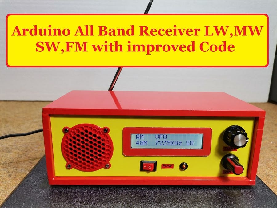 Arduino All Band Receiver LW, MW, SW, FM with improved code