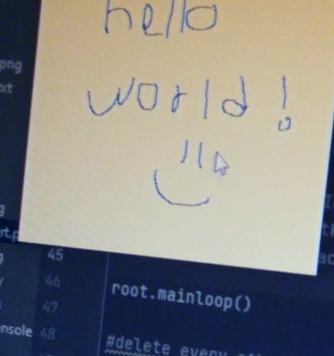 Drawing hello world