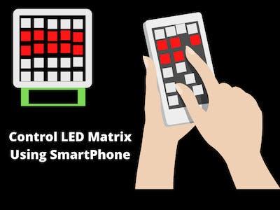 SmartPhone Controlled Led Matrix