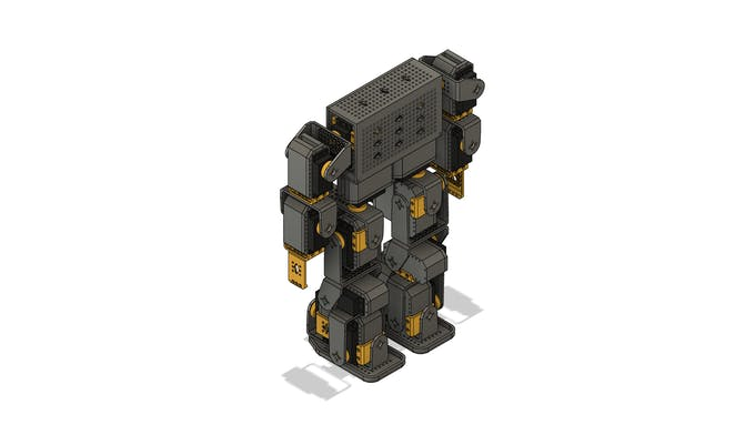 Humanoid robot: 18 servo motors + Arduino MEGA