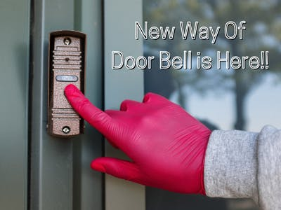 Non Contact and Notification Based Door Bell