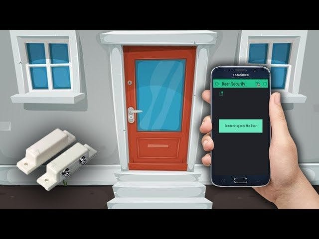 IoT based Door Security Alarm Project with Blynk