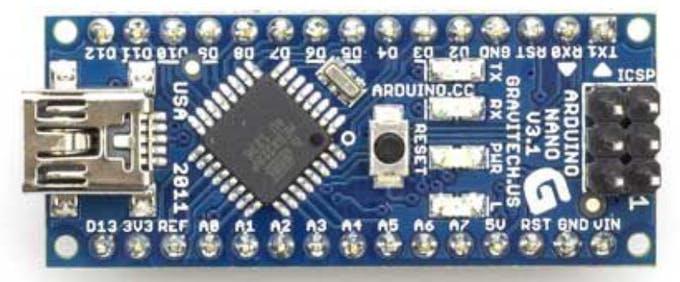 Figure 7: Arduino Nano (Image: https://www.elektor.com/arduino-nano)