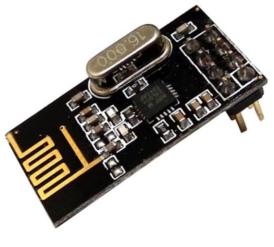 Figure 4: nRF24L01 transceiver module (Image: http://www.hobbyandyou.com/rees52-nrf24l01-24ghz-wireless-transceiver-module-for-arduino)