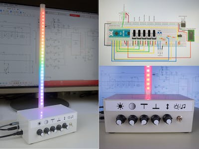 Audio Spectrum Visualiser with Colour Selection