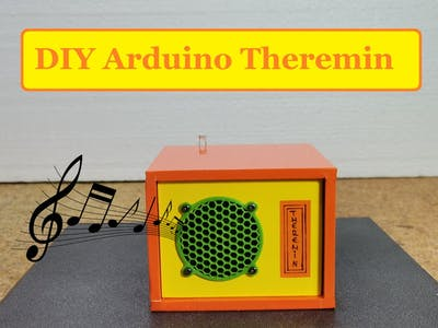 DIY Arduino Musical Instrument-Theremin with 4 Sound Modes