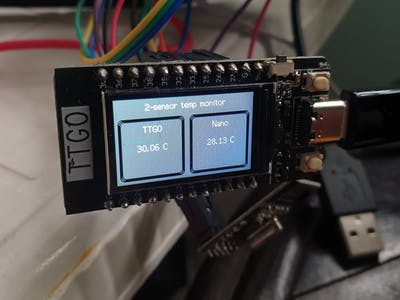 Dual Location Temperature Monitoring System
