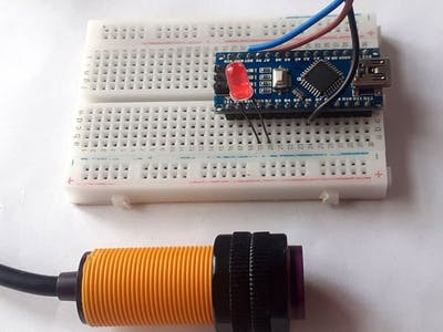 Interfacing E18-D80NK IR Proximity Sensor with Arduino