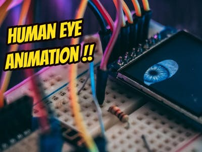 Human eye animation project on TFT LCDs and Wemos
