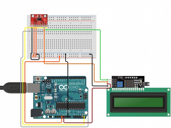 Counting Steps using Arduino and Accelerometer
