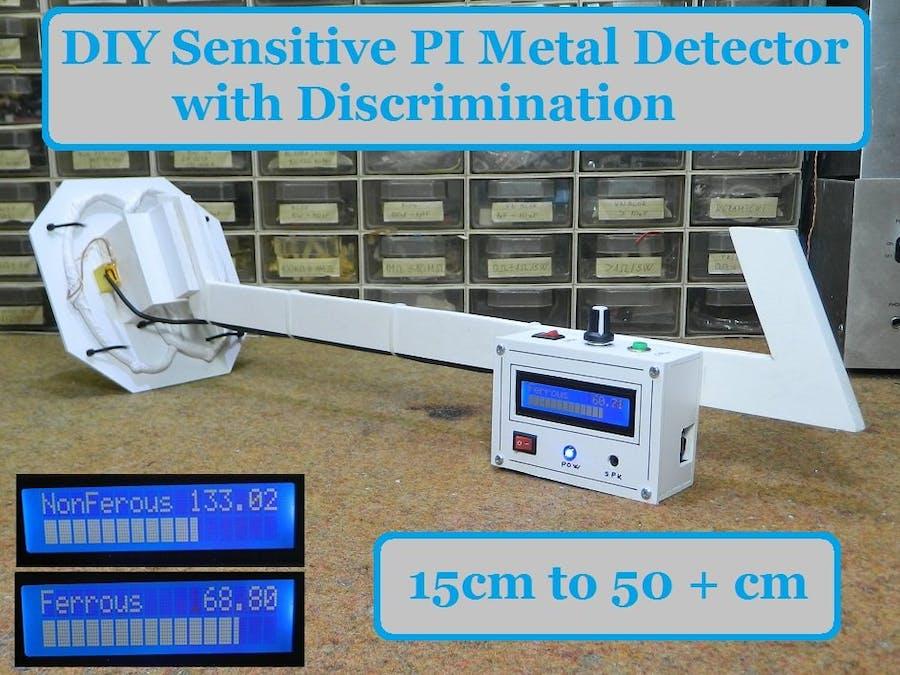 DIY sensitive Arduino IB Metal Detector with Discrimination
