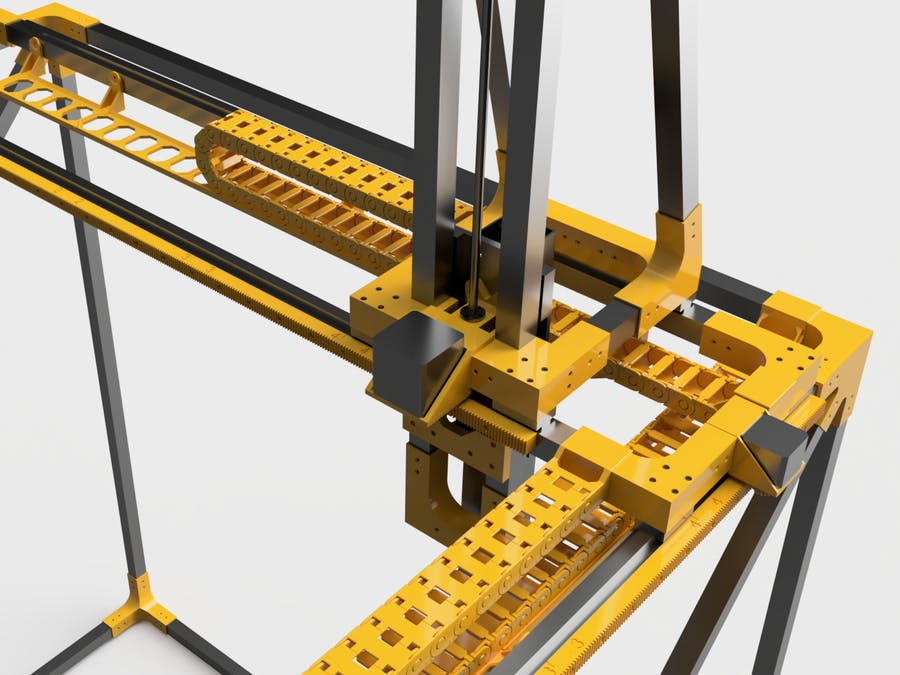 3D-Printable 1x1x1m 5-Axis Machine, 3D-Printer