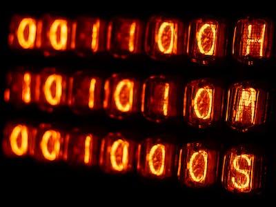 IN-12 IN-15 Big Binary Nixie Clock