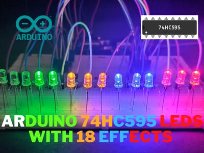 Arduino 74hc595 Shift Register With 18 eflects