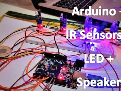 Marker Beacon System with IR Sensors, Buzzer and LED