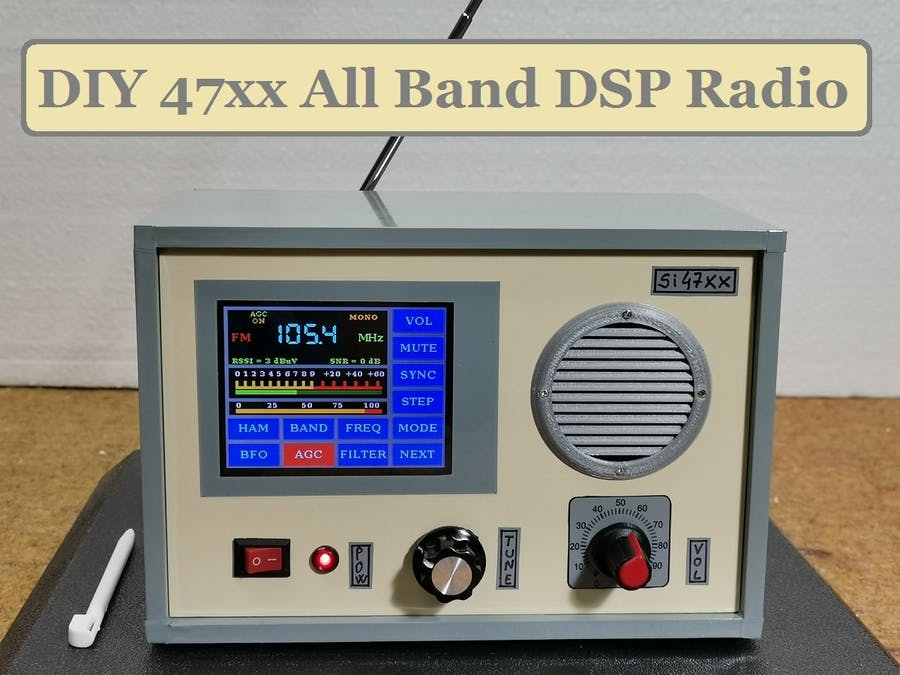 DIY Si47xx All Band DSP Radio with 2.8 inch touch Display