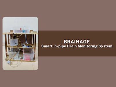 Brainage- Smart in-pipe Drain Monitoring System
