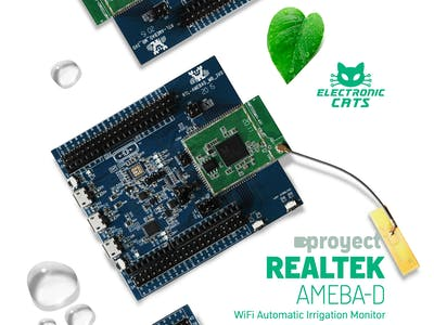 AmebaD and Arduino humidity monitor for house plants