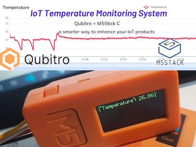 IoT Temperature Monitor using M5Stick and Qubitro