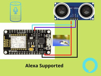 Alexa Supported Water Level Indicator
