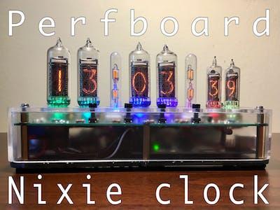 DIY Nixie clock on perfboard!