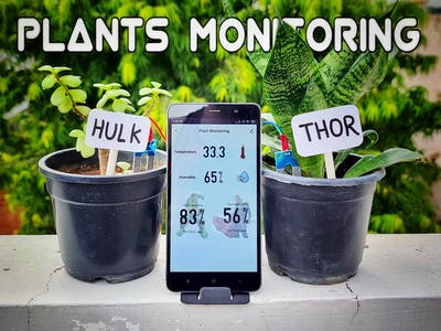 Avengers plant monitoring device | Arduino IoT projects