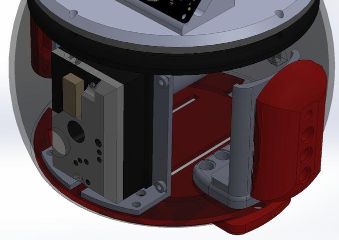 Figure 8: Dust Sensor in side the robot.