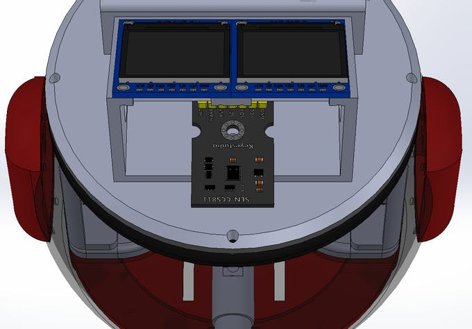 Figure 10: Monitoring indoor air quality in side the Robot.