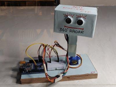 360 RADAR using 2 ultrasonic sensor