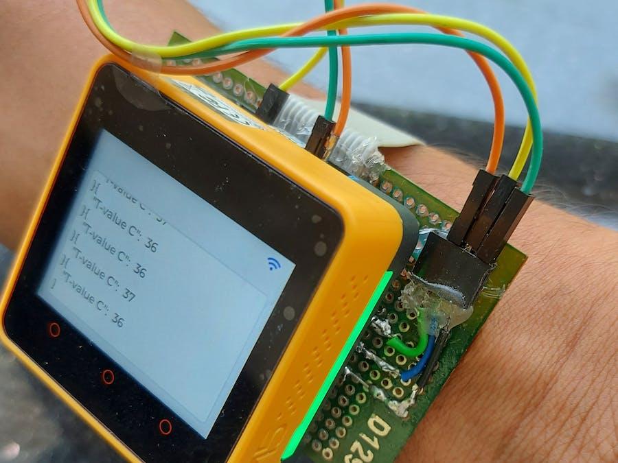 Wearable Temperaure Monitor- AWS IoT-EduKit