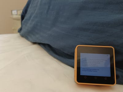 Sleep Monitoring System based on AWS IoT EduKit