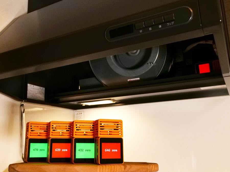 Automatic Ventilation System with CO2 Monitors