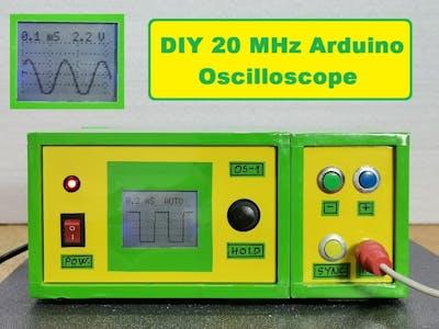 DIY Simple 20 kHz Arduino Oscilloscope on Nokia 5110 LCD