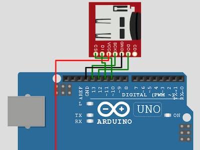 SD card Arduino simulation on Wokwi Arduino Simulator