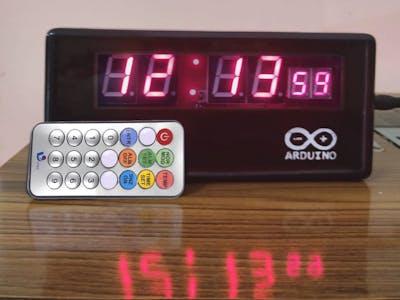 Digital Clock with IR Remote Control using Arduino Nano R3