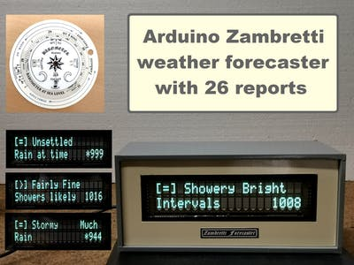 DIY Zambretti Weather Forecaster on VFD Display