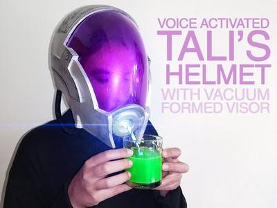 Voice Activated, 3D Printed Tali's Helmet!