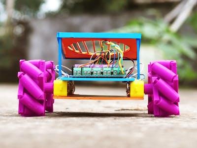WIFI robot car with 3d printed mechanum wheels