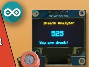 Arduino Breathalyzer Project using MQ3 alcohol senso