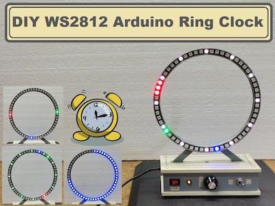 DIY WS2812 Analog style Arduino Ring Clock