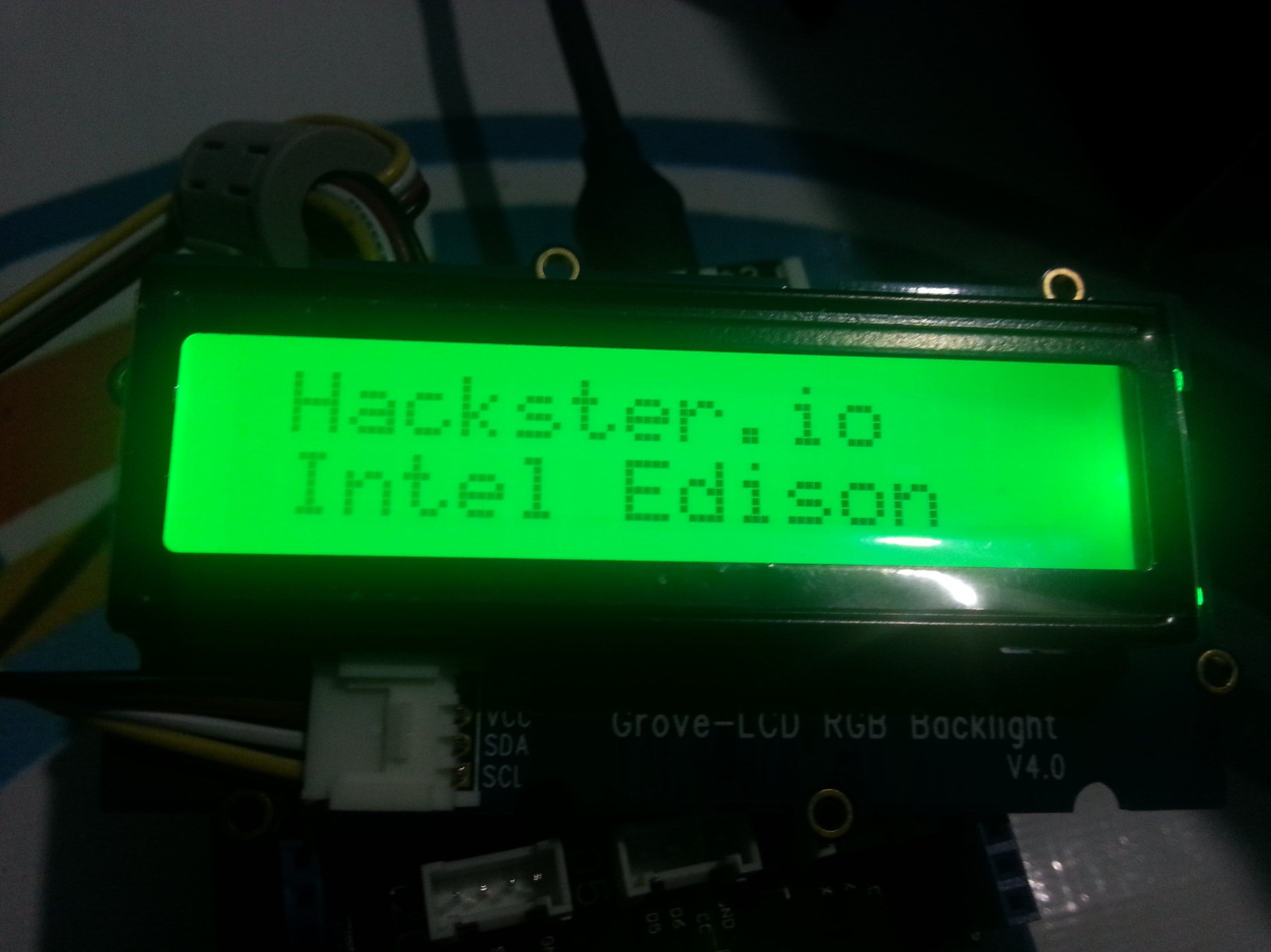 Intel Edison with Grove LCD