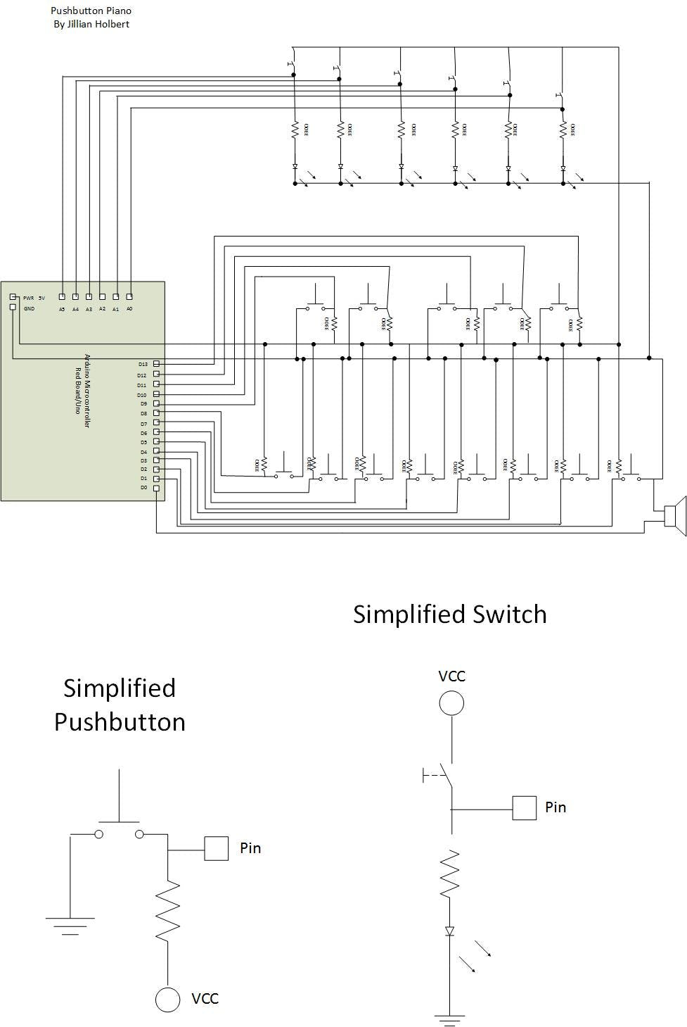 The schematic, created using Visio