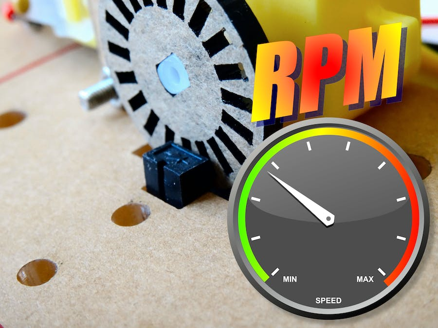 Measure motor speed (RPM) with Optocoupler and Encoder disk