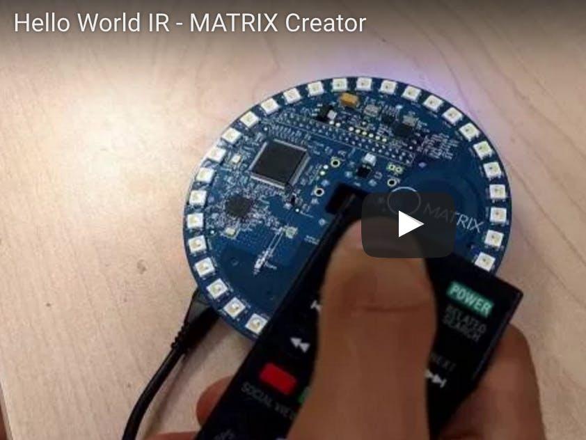Raspberry Pi IR Remote with MATRIX Creator [DEPRECATED]