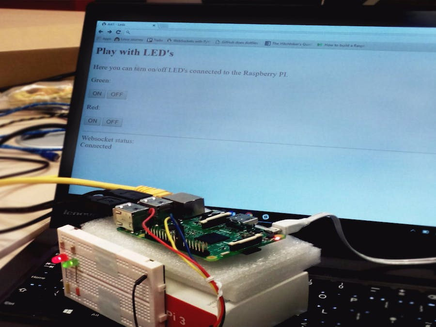 Control Raspberry Pi GPIOs with WebSockets - Hackster io