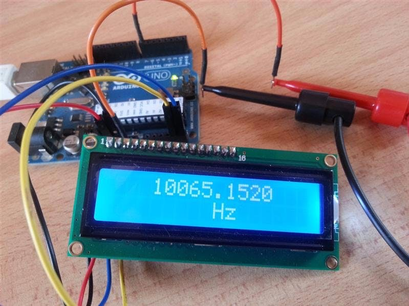 Arduino Frequency Counter with 16×2 LCD Display