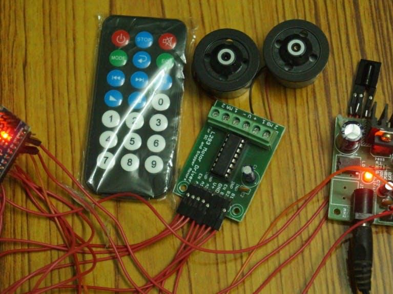 Nano IR Remote for DC Motors