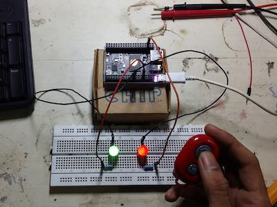 Selfie Blink : Control LEDs using selfie bluetooth remote