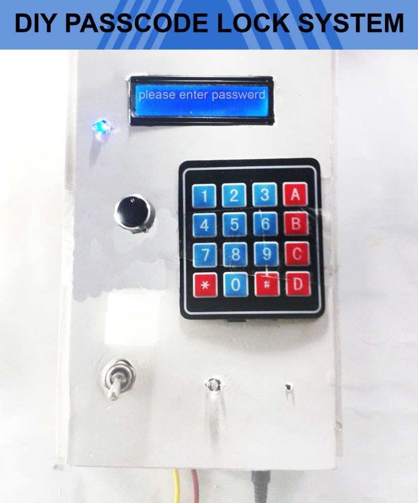 Diy Passcode Lock System Using Arduino