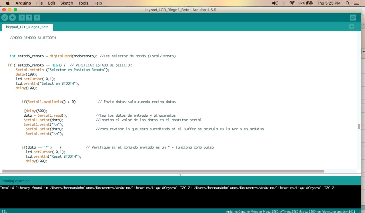 Upload Code to Arduino Mega-Output signals  to Field Devices Inhibited
